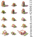 Vector isometric restaurants types icons 42806113