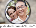 Cheerful senior couple 42807625
