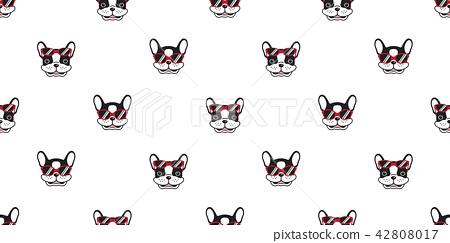 dog seamless pattern vector french bulldog 42808017