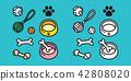 dog vector icon toy puppy dog paw bone cartoon 42808020