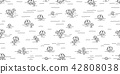 mushroom seamless pattern vector yard forest wood  42808038
