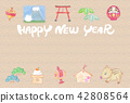 new year's card, new year, material for new year's cards 42808564