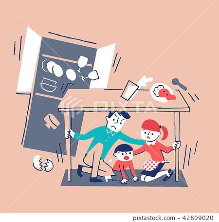 person, family, earthquake 42809020