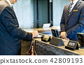 Businessman, Business trip, Reception, Check in 42809193