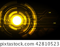 Golden abstract technology futuristic background  42810523