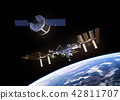 Cargo Spaceship Is Preparing To Dock With Space Station 42811707