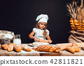 girl, bread, cook 42811821