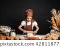 girl, bread, cook 42811877