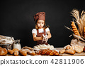 girl, bread, cook 42811906