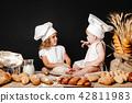 girl, cooking, children 42811983
