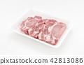 돼지 고기 스테이크 (등심) 42813086