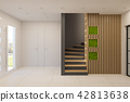 3d render interior design of a foyer in a private country house 42813638