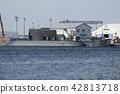 정박중인 잠수함 【카나가와 현】 요코스카 항 42813718