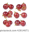 red grapes isolated on white background 42814671