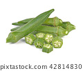 okra isolated on white background 42814830