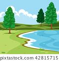 lake, nature, pond 42815715