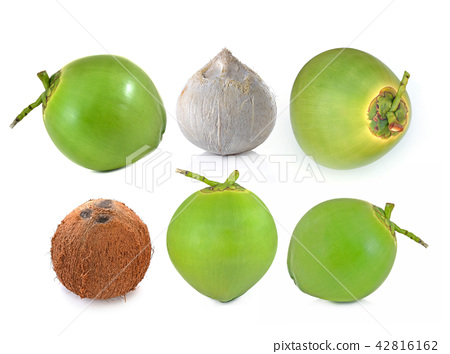 coconut Fruit isolated on white background. 42816162