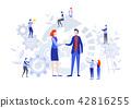 Handshake of business people. flat cartoon 42816255