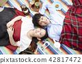 公園夫婦野餐 42817472