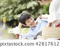 公园夫妇野餐 42817612