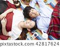 公園夫婦野餐 42817624
