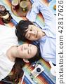 公園夫婦野餐 42817626