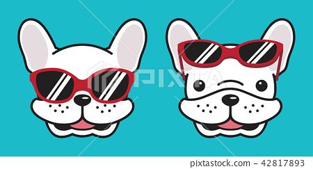 Dog vector french bulldog icon smile sunglasses 42817893