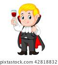 Funny cartoon little vampire 42818832