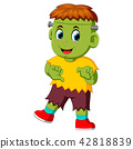 Cartoon Frankenstein kid 42818839