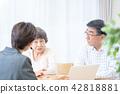 老年夫婦 商議 諮詢 42818881