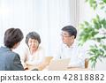 老年夫婦 商議 諮詢 42818882