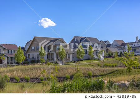 Homes in the suburbs of Daybreak Utah 42819788