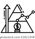 Base of pyramid Line illustration 42821948
