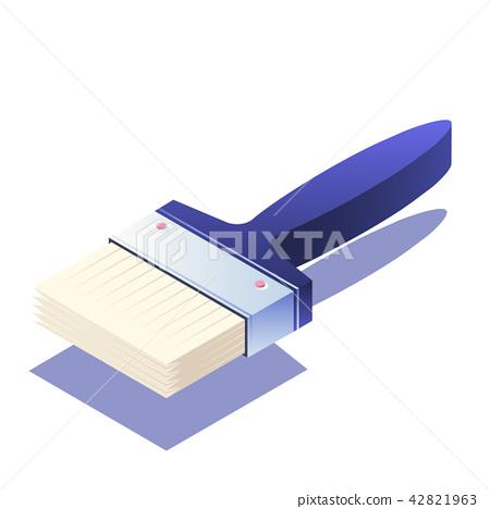 Paintbrush Isometric illustration 42821963