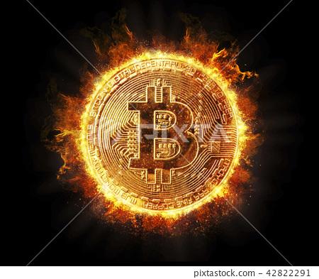 가상화폐, 불타는 비트코인 42822291