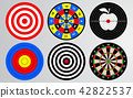 Set of shooting range target, dart board isolated 42822537