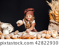 girl, bread, chef 42822930