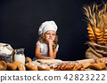 girl, bread, chef 42823222