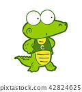 Crocodile in Cartoon style 42824625