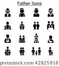 Father icon set 42825916