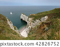 The cliffs at Etretat in Normandy 42826752