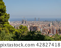 Panoramic view of Barcelona city 42827418