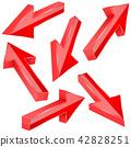 red, arrows, 3d 42828251