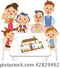 三代家庭看到了房子計劃 42829462