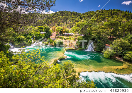 Waterfalls Skradinski Buk in Krka National Park. 42829936