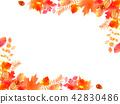Frame of autumn leaves 42830486