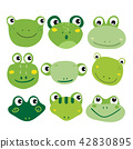 frog character vector design 42830895