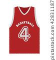 籃球製服插圖(手寫風格粗略素描) 42831187