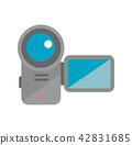 彩色插圖圖標/攝像機/拍攝/電影/電影 42831685