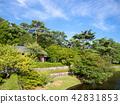 [중] 연못이있는 일본 정원 풍경 [슈 젠지 무지개 마을] 42831853